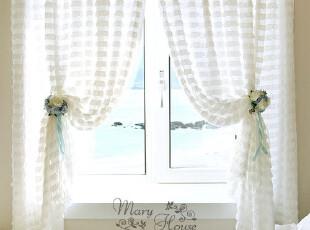 韩国进口家居*白色百叶边*韩国装饰窗帘MH00165,窗帘,