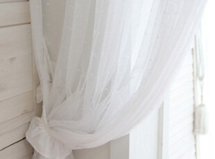 『韩国网站代购』只说给自己听 奶白时光网纱刺绣蕾丝窗帘|定做款,窗帘,