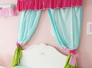 花开木木 家纺 公主风 成品窗帘 窗帘订做 全棉窗帘 尺寸可以订做,窗帘,