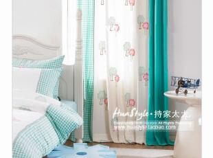〓持家太太〓韩国家居*蓝格子树*韩国儿童窗帘MH00231,窗帘,