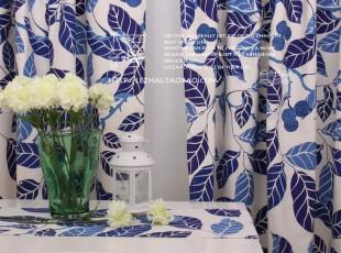 窗帘 2片装 (K)活性纯棉布料 pax-帕克斯/蓝款,窗帘,