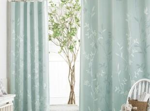 【Asa room】韩国窗帘代购进口 田园风景客厅成品卧室遮光 k410-m,窗帘,