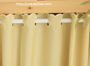 直供韩国纯棉半帘  耐看黄色  团购价 6 0cm  外贸窗帘,窗帘,