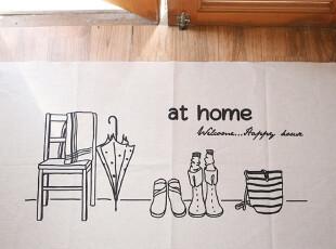 拼布手工diy布料棉麻日单韩单麻布森林系桌布沙发布窗帘 家居地垫,窗帘,