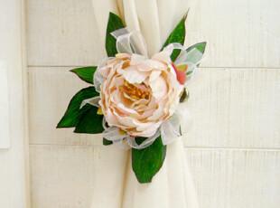 ★公主梦想★韩国*浪漫花朵*纯手工制仿真花装饰窗帘夹W2213,窗帘,