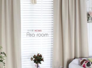 【Asa room】韩国进口代购 米色布艺遮光成品卧室窗帘 k314-be,窗帘,