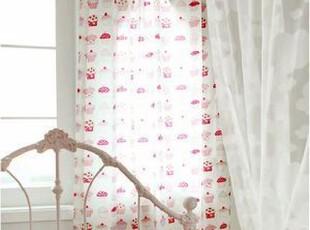在韩国定做 蛋糕图案卡通儿童窗帘/小公主房窗帘,窗帘,