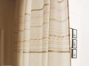zakka 日式 田园 小清新 棉麻 窗帘 2片装 candy 新款到货,窗帘,