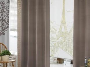 【Asa room】韩国窗帘代购进口 简约卧室客厅成品遮光帘 k396-br,窗帘,