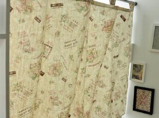 逸点  韩式亚麻布艺门帘|窗帘|半帘|乡村延续有配套桌布 可定做,窗帘,