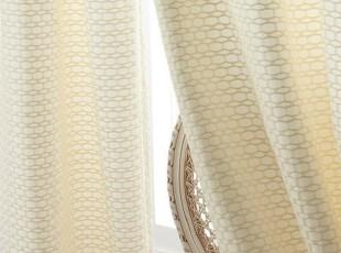 简单的奢华美国代购包邮 家居必备古典清新绸缎感小花砖纹窗帘,窗帘,