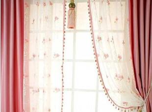 『韩国定做窗帘』K542 漂亮丝光拼接花朵刺绣窗纱拼帘,窗帘,