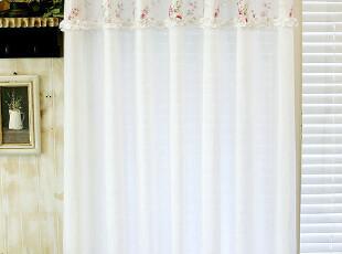 韩国进口代购 *甜美玫瑰*韩国高档窗纱窗帘MH037(定做),窗帘,