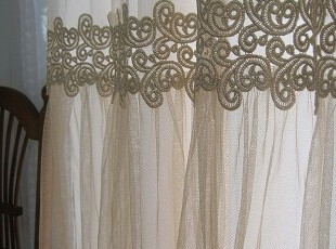 〓持家太太〓韩国家居*金色年华3韩国装饰窗纱/窗帘/隔帘,窗帘,