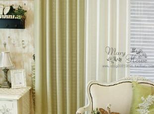 韩国进口家居*绿白组合*窗帘MH00151(特价),窗帘,