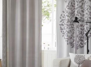 【Asa room】韩国窗帘代购进口田园灰色卧室客厅成品遮光帘k396-g,窗帘,