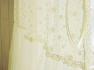在韩国定做 浪漫唯美韩国双层窗纱/卧室纱帘/客厅 RR003 白色,窗帘,