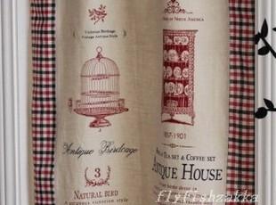 复古 维多利亚的家  棉麻 背心式 门帘/窗帘 可定制,窗帘,
