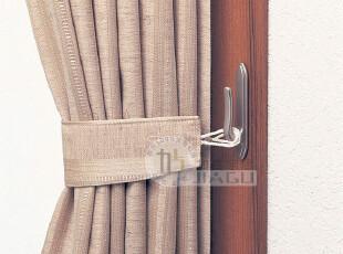 日本进口LEC窗帘挂钩 粘胶挂钩 创意 强力粘钩 窗帘钩2枚装61699,窗帘,
