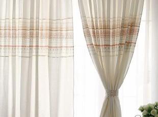 田园 小清新 棉麻 窗帘 2片装 蜜糖系列-flower暖款,窗帘,