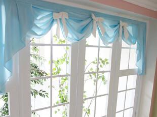 【韩国定做窗帘】 n1278 清爽蓝色蝴蝶结窗幔/帷幕,窗帘,