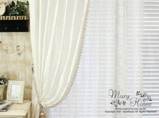 韩国进口家居*白色暗花*韩国高档蕾丝窗帘MH0013,窗帘,