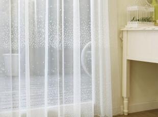 韩国进口代购 韩国定做成品雪花白色窗帘窗纱(定做),窗帘,