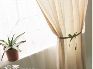 [慢素mansu]花溪。拼布棉麻窗帘 定制定做,窗帘,