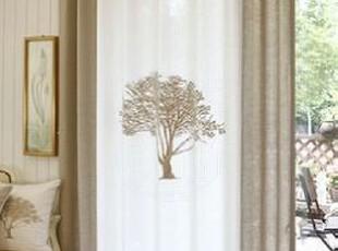 在韩国定做 低调的奢华 柠檬树镶钻亚麻客厅窗帘/定做窗帘,窗帘,