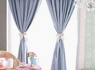 在韩国定做 蓝色海洋韩国遮光窗帘/客厅 卧室窗帘 可定做,窗帘,