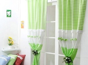 【Asa room】韩国进口代购窗帘田园绿色短款卧室窗帘正品c012-3-g,窗帘,