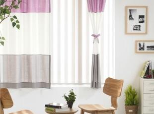 【Asa room】韩国窗帘代购进口 短款糖果色成品卧室半遮光 k420-v,窗帘,