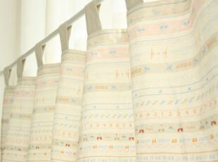 zakka 日式田园 棉麻 窗帘半帘 咖啡帘 门帘 candy 3色入,窗帘,