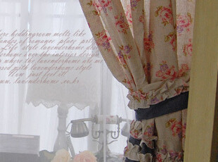 『韩国网站代购』撒丁的卡利亚里~优雅怀旧蓝灰色窗帘|定做款,窗帘,