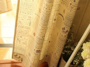 zakka 做旧 棉麻 窗帘 2片装【童年】系列,窗帘,