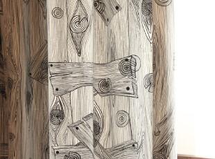 简约风格 纯棉加厚 窗帘 2片装 古木系列,窗帘,
