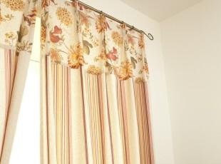 【麦森】美式田园 亚麻 窗帘/布艺/遮光窗帘/成品外贸布艺 条纹,窗帘,