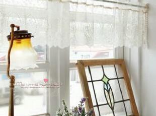 韩国代购 绣花缀珠蕾丝窗帘 韩国进口小挂帘/门帘,窗帘,