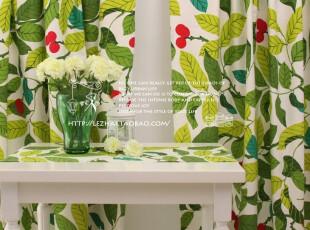 窗帘 2片装 (K)活性纯棉布料 pax-帕克斯/绿款,窗帘,