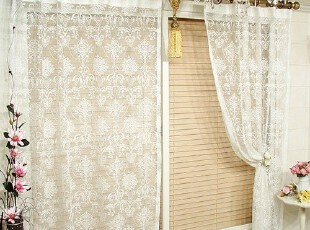 【Asa room】韩国代购窗帘进口 公主蕾丝纱帘白色客厅窗帘 k091-w,窗帘,