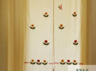 A50 香芋谷色鲁绣日式门帘 卡通 可爱 隔断 美式乡村 儿童房布艺,窗帘,
