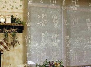 韩国直送 餐具图案罗马窗帘/罗马 /客厅 书房折帘 可定做,窗帘,
