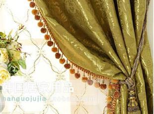 【Asa room】韩国窗帘进口 绿色可定做卧室遮光窗帘 k092-g,窗帘,