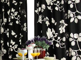 简约风格 纯棉加厚 窗帘 2片装 静夜系列,窗帘,