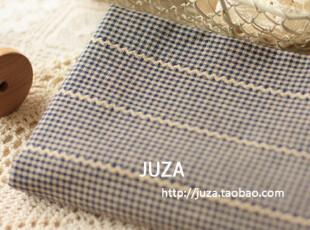 外贸色织提花布料  蓝    手工窗帘衣料  (50*155 cm),窗帘,