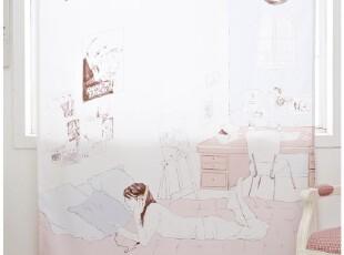 『韩国进口家居』A477 少女的音乐心情*单幅防尘窗帘\挂帘,窗帘,