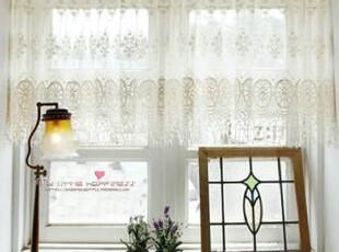 韩国环形绣花镂空飘丝蕾丝窗帘/厨房半帘 门帘 小挂帘,窗帘,
