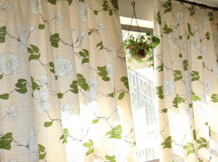 奢华软装 高档加厚天竺棉 活性印染 【兰】系列-窗帘,窗帘,