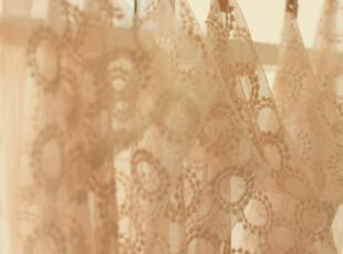 直供日本纯棉网纱 圈圈 窗帘手工衣服 重磅推荐 团购价 50*145,窗帘,
