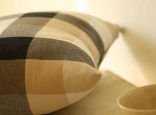 日单家居布料 MUJI经典格子 黑白 床品窗帘布料 (50*150),窗帘,